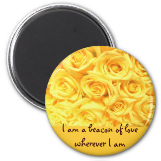 Special Yellow Roses 6 Cm Round Magnet