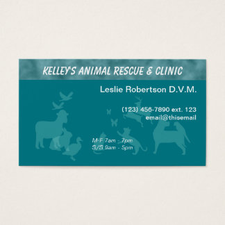 Specialist/ Doctor Animal Services U-pick Colour Business Card