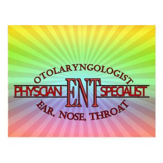 SPECIALIST ENT Otolaryngology Ear Nose Throat LOGO Postcard