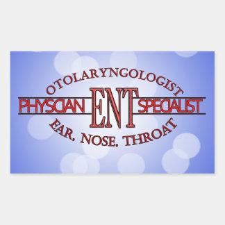 SPECIALIST ENT Otolaryngology Ear Nose Throat LOGO Rectangular Sticker