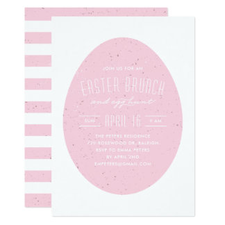 Speckled Egg Easter Invitation - Peony