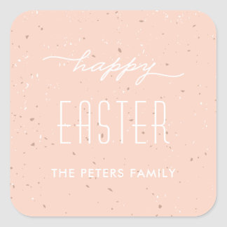 Speckled Egg Easter Sticker - Peach