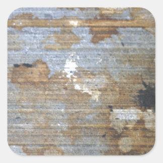Speckled grunge pattern square sticker