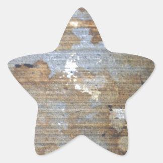 Speckled grunge pattern star sticker