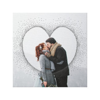 SPECKLED HEART CANVAS PRINT