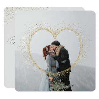 SPECKLED HEART GOLD CARD