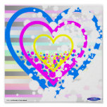Speckled hearts mini poster #2