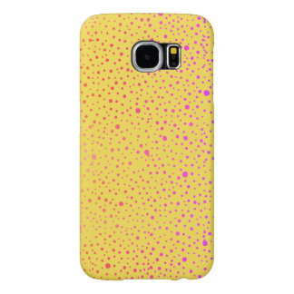 speckled pattern colorful yellow samsung galaxy s6 cases