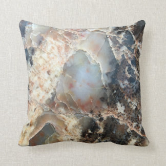 Speckled Petrified Wood Pillow