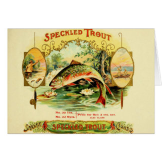 Speckled Trout Cigar Case Card