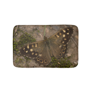 Speckled Wood Butterfly Bath Mats