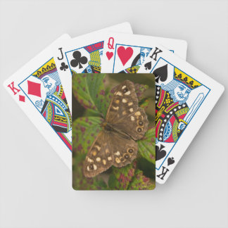 Speckled Wood Butterfly Bicycle Playing Cards