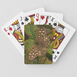 Speckled Wood Butterfly Playing Cards