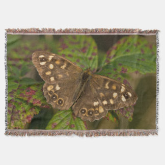 Speckled Wood Butterfly Throw Blanket