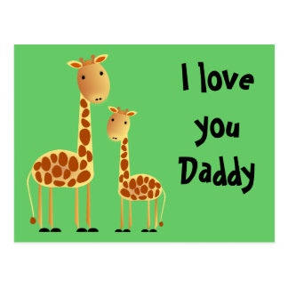 Speckles Father`s Day Postcard