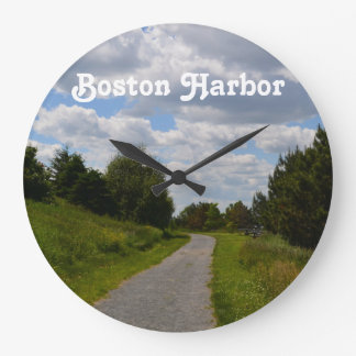 Spectacle Island in Boston Harbor Wall Clock