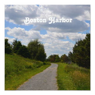 Spectacle Island in Boston Harbor Personalized Announcement Card