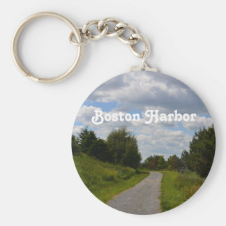 Spectacle Island in Boston Harbor Keychain