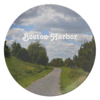 Spectacle Island in Boston Harbor Party Plates