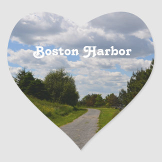 Spectacle Island in Boston Harbor Heart Sticker