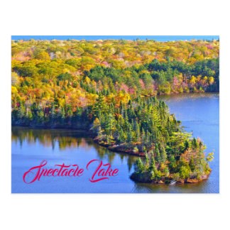 Spectacle Lake Viewed in Autumn From Mission Hill Postcard