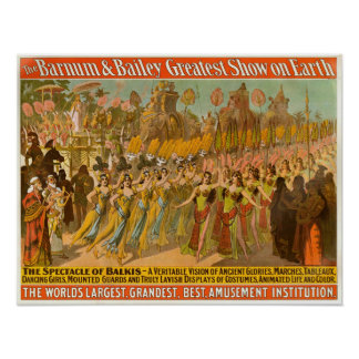 Spectacle of Balkis Barnum & Bailey Circus Poster