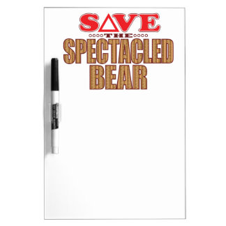 Spectacled Bear Save Dry Erase Whiteboards