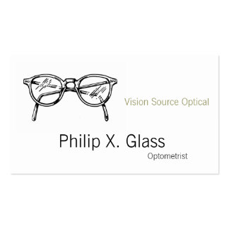 Spectacles Eyewear Optical Vision Pack Of Standard Business Cards