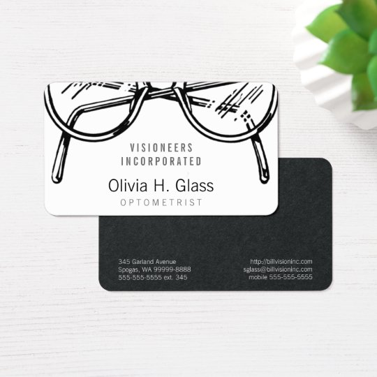Spectacles Eyewear Optical Vision Business Card