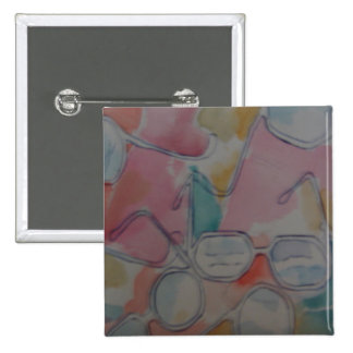 Spectacles in the Abstract 15 Cm Square Badge