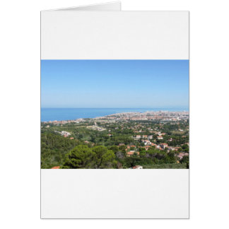 Spectacular aerial panorama of Livorno city Card