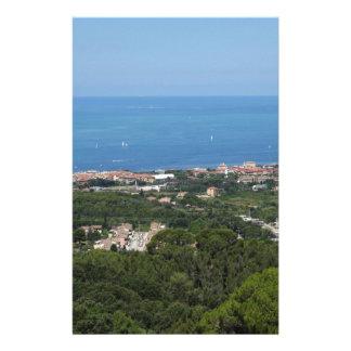 Spectacular aerial panorama of Livorno city Custom Stationery