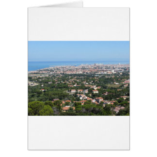 Spectacular aerial panorama of Livorno city, Italy Card