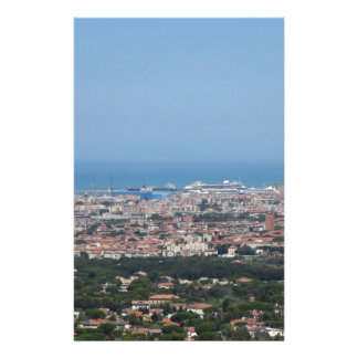 Spectacular aerial panorama of Livorno city, Italy Customized Stationery