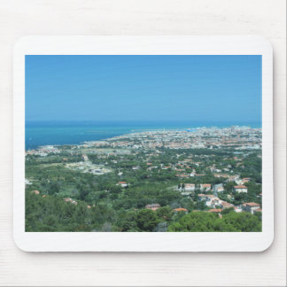 Spectacular aerial panorama of Livorno city, Italy Mouse Pad