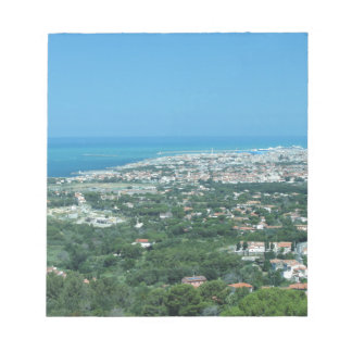 Spectacular aerial panorama of Livorno city, Italy Notepad