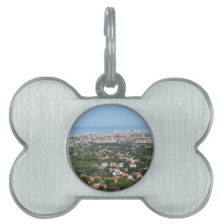 Spectacular aerial panorama of Livorno city, Italy Pet ID Tags