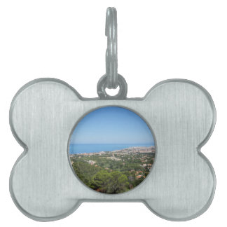 Spectacular aerial panorama of Livorno city, Italy Pet Name Tag