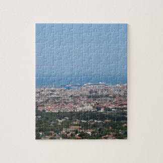 Spectacular aerial panorama of Livorno city, Italy Puzzle