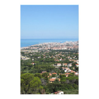 Spectacular aerial panorama of Livorno city, Italy Stationery