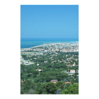 Spectacular aerial panorama of Livorno city, Italy Stationery Paper