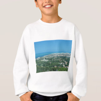 Spectacular aerial panorama of Livorno city, Italy Sweatshirt