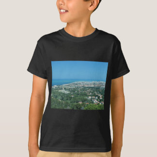 Spectacular aerial panorama of Livorno city, Italy T-Shirt