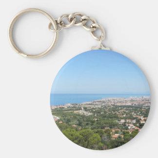 Spectacular aerial panorama of Livorno city Key Ring