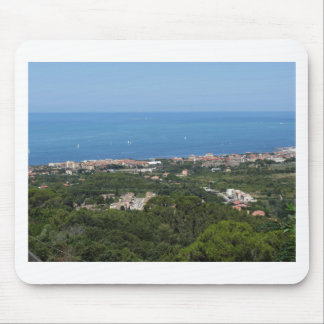 Spectacular aerial panorama of Livorno city Mouse Pad