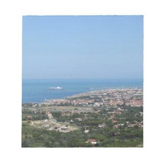 Spectacular aerial panorama of Livorno city Notepad