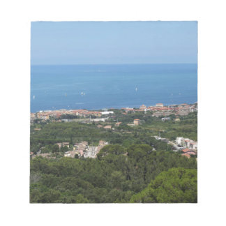 Spectacular aerial panorama of Livorno city Notepad