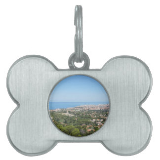 Spectacular aerial panorama of Livorno city Pet ID Tags