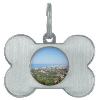 Spectacular aerial panorama of Livorno city Pet Name Tag