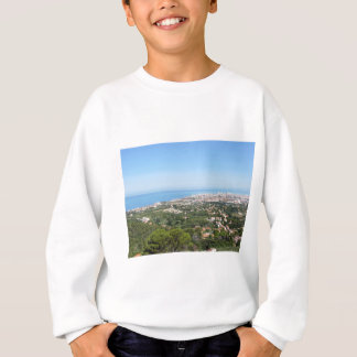 Spectacular aerial panorama of Livorno city Sweatshirt